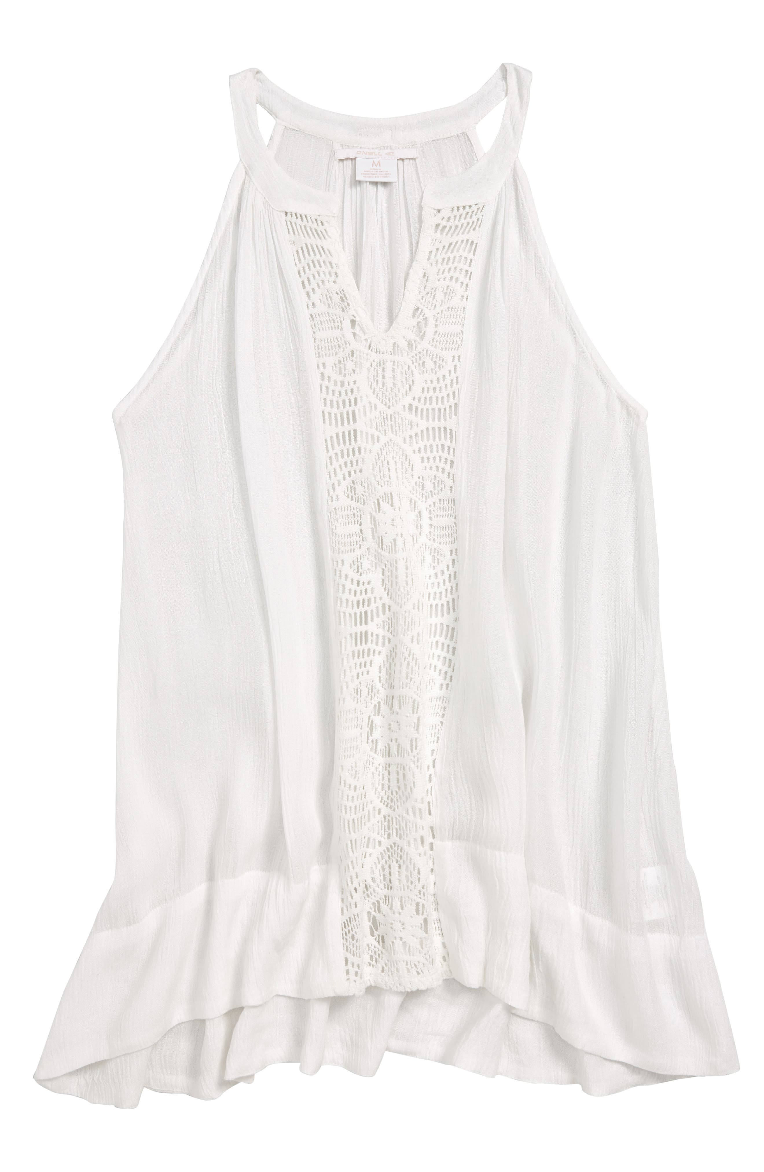 Rilee Cover-Up Tank Dress, Main, color, WHITE