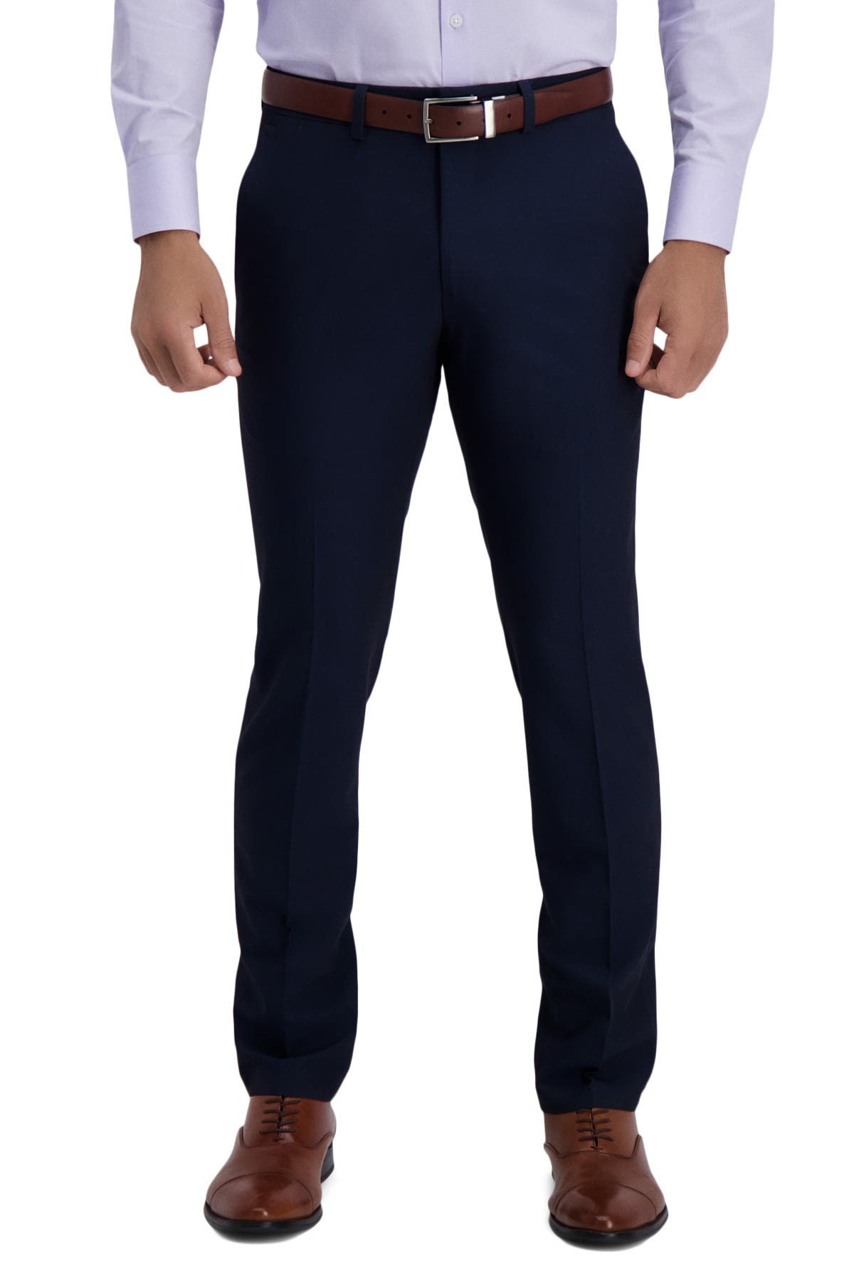 """Image of Kenneth Cole Reaction Mini Grid Textured Solid Slim Fit Suit Separates Trousers - 30-32"""" Inseam"""