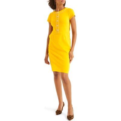 Boden Gracie Ponte Sheath Dress, Yellow