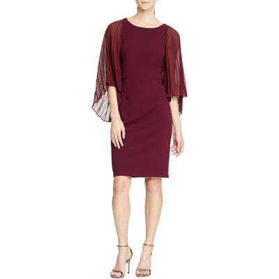 Halston Heritage Angel Sleeve Sheath Dress, Purple