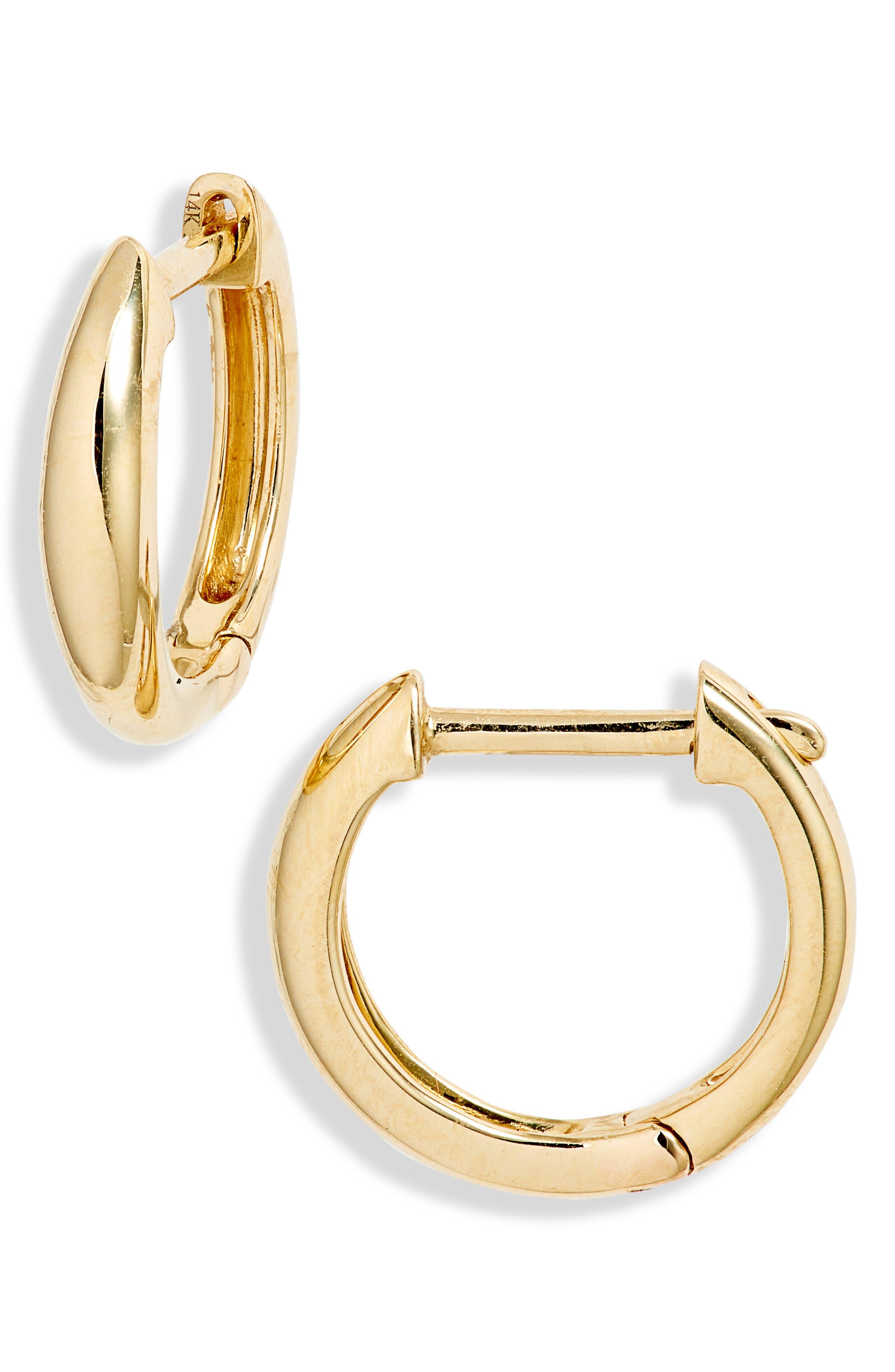 Dome Huggie Hoop Earrings