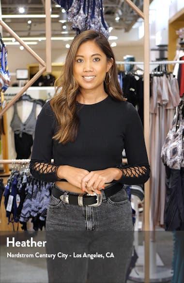 Metallic High Waist Ankle Skinny Jeans, sales video thumbnail