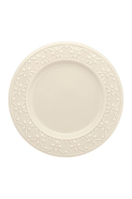 "Image of Manhattan Comfort Mendi 6 Large 10.43"" Dinner Plates - Ivory"