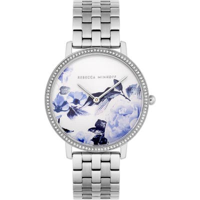 Rebecca Minkoff Major Floral Dial Bracelet Watch, 35Mm