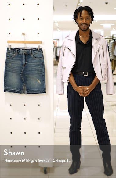 Hannah Distressed Denim Skirt, sales video thumbnail