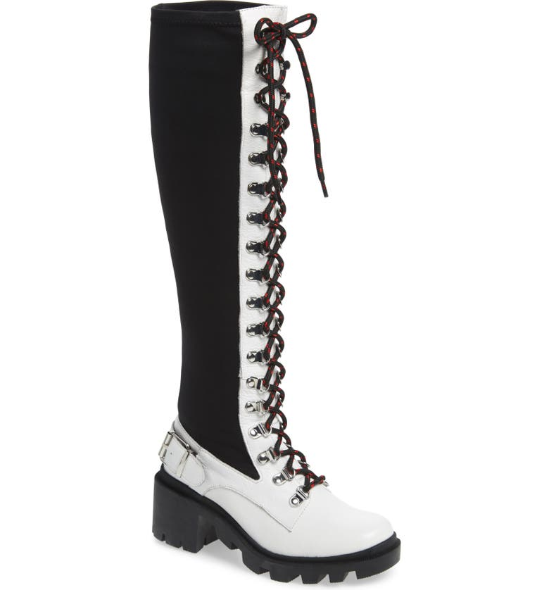 SILENT D Nexton Knee High Boot, Main, color, WHITE