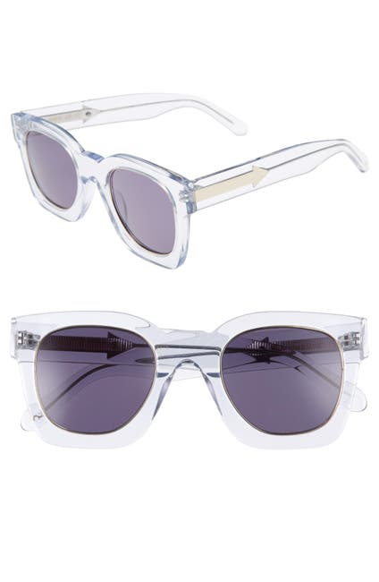 Image of Karen Walker Pablo 50mm Square Sunglasses