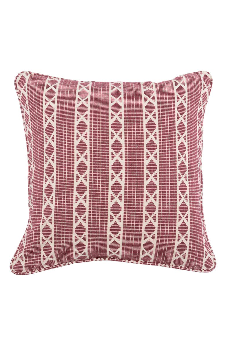 VILLA HOME COLLECTION Dakota Pillow, Main, color, BERRY