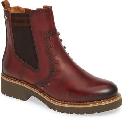 Pikolinos Vicar Water Repellent Studded Bootie, Burgundy