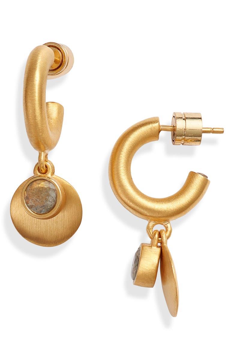 DEAN DAVIDSON Charmed Huggie Hoop Earrings, Main, color, 020