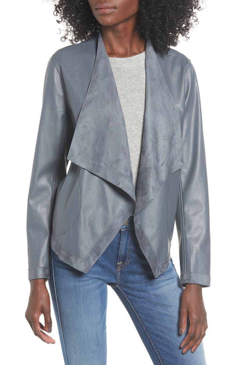 Bb Dakota Teagan Reversible Faux Leather Drape Front