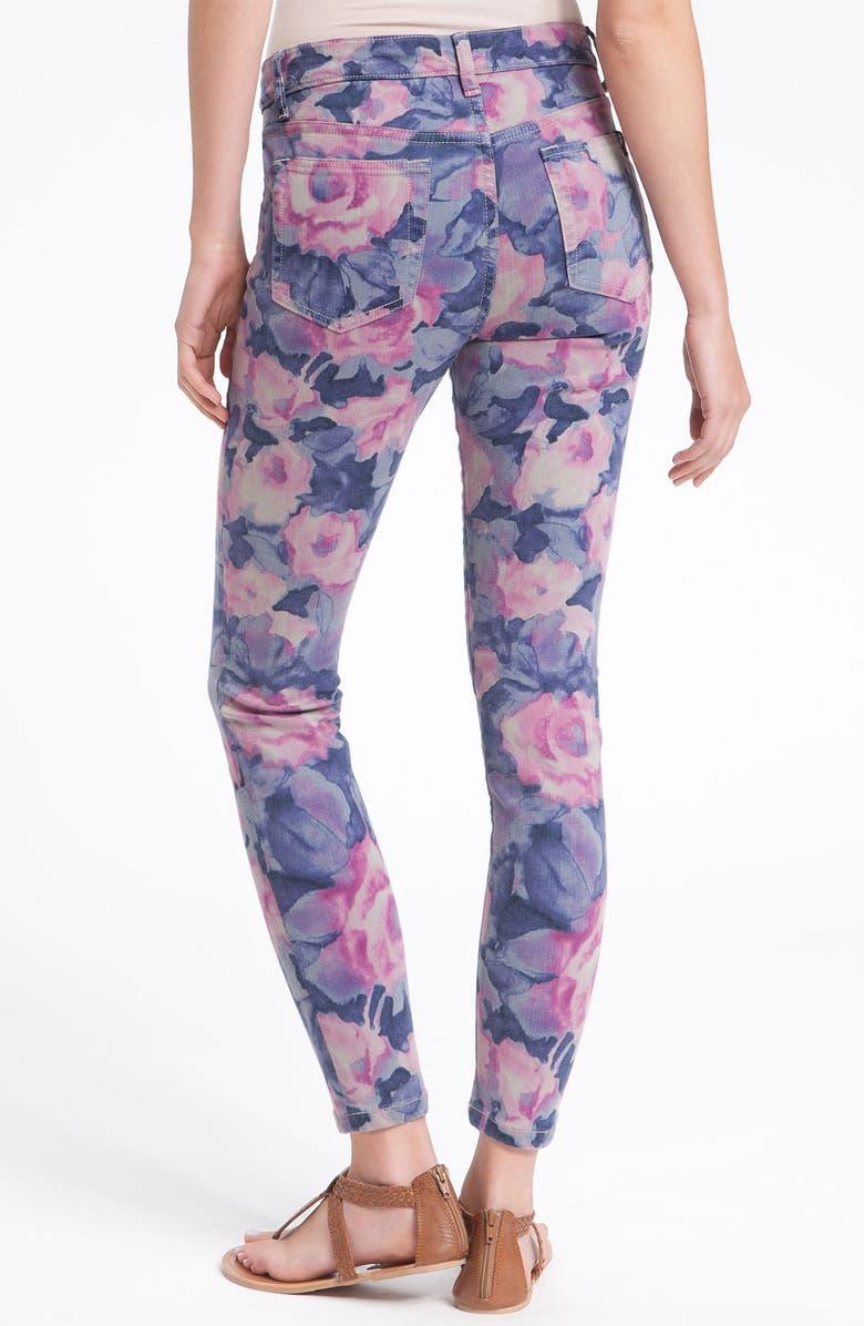 JOE'S 'The High Water' Print Crop Skinny Jeans, Main, color, 400