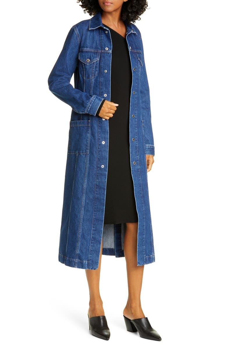 HELMUT LANG Denim Trucker Coat, Main, color, ACC BRIGHT STONE