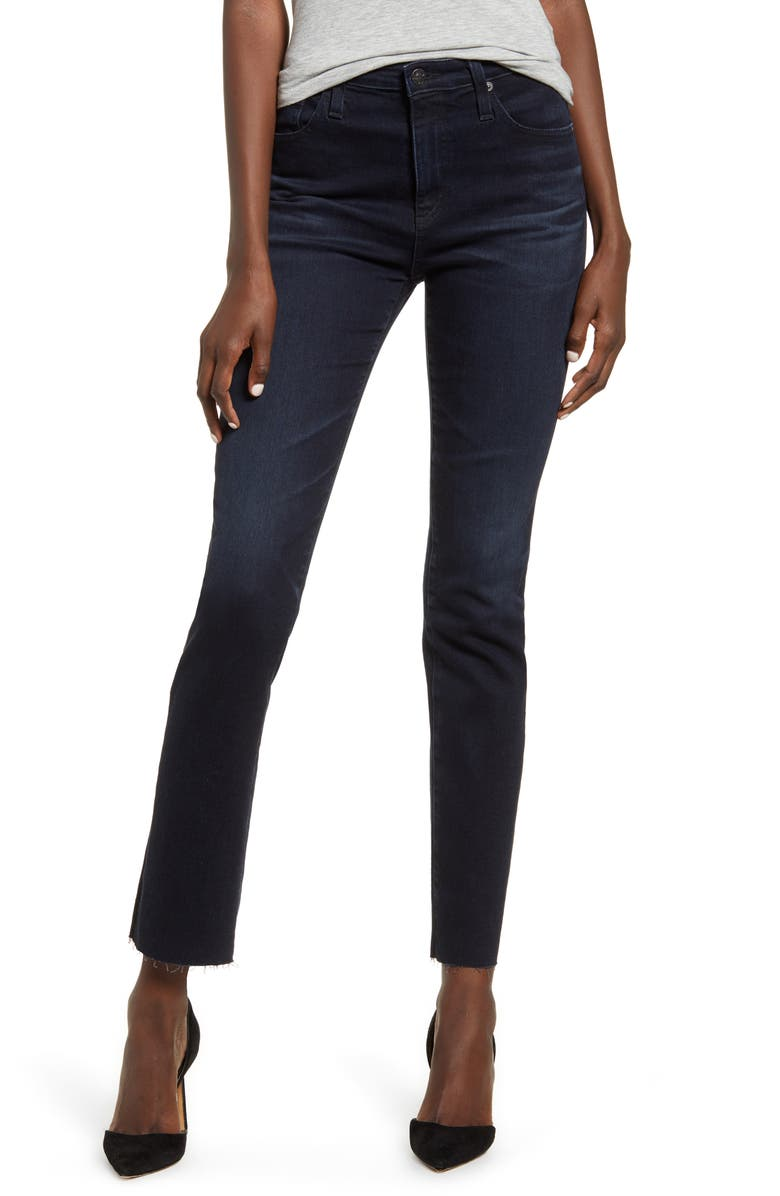 AG The Isabelle High Waist Ankle Straight Leg Jeans, Main, color, 3YRS INQUIRE