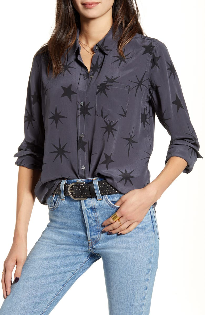 RAILS Kate Silk Shirt, Main, color, 025