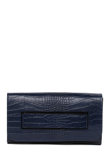Image of Scui Studios Croc Embossed Leather Clutch