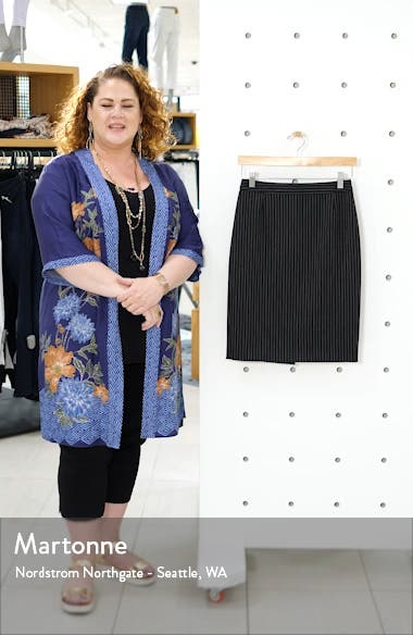 Vimena Pinstripe Ponte Skirt, sales video thumbnail