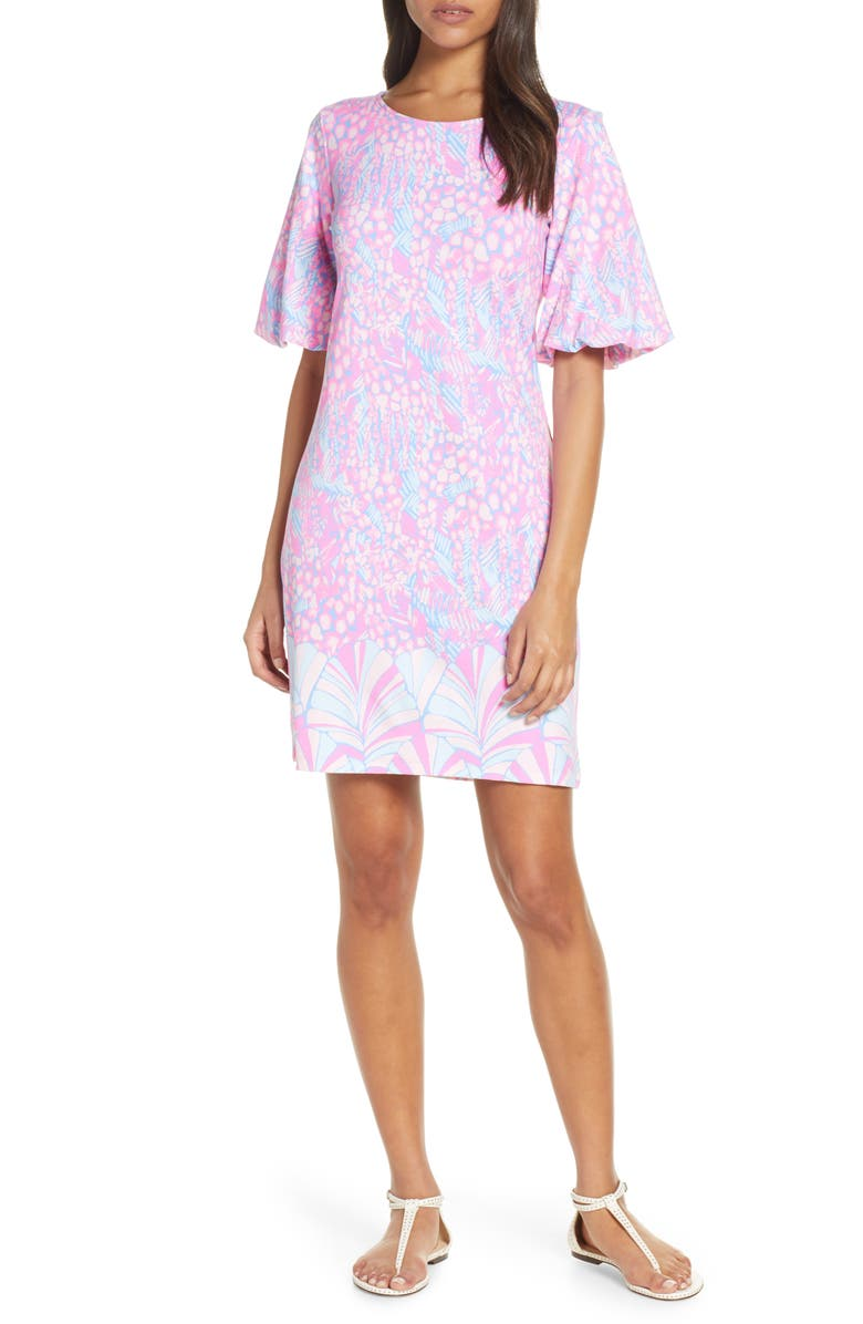 LILLY PULITZER<SUP>®</SUP> Britton Shift Dress, Main, color, PINK SORBET HIGH ALTITUDE