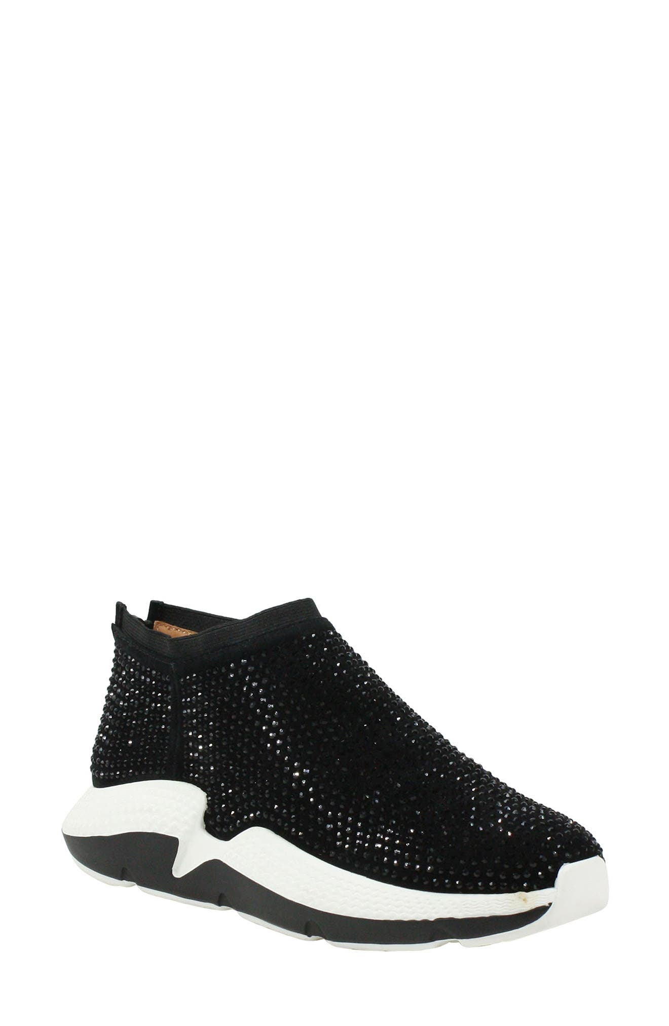 Sparkling crystals embellish a street-chic sneaker lofted by a futuristic two-tone sole. Style Name:L\\\'Amour Des Pieds Helena Embellished Sneaker (Women). Style Number: 6086180. Available in stores.