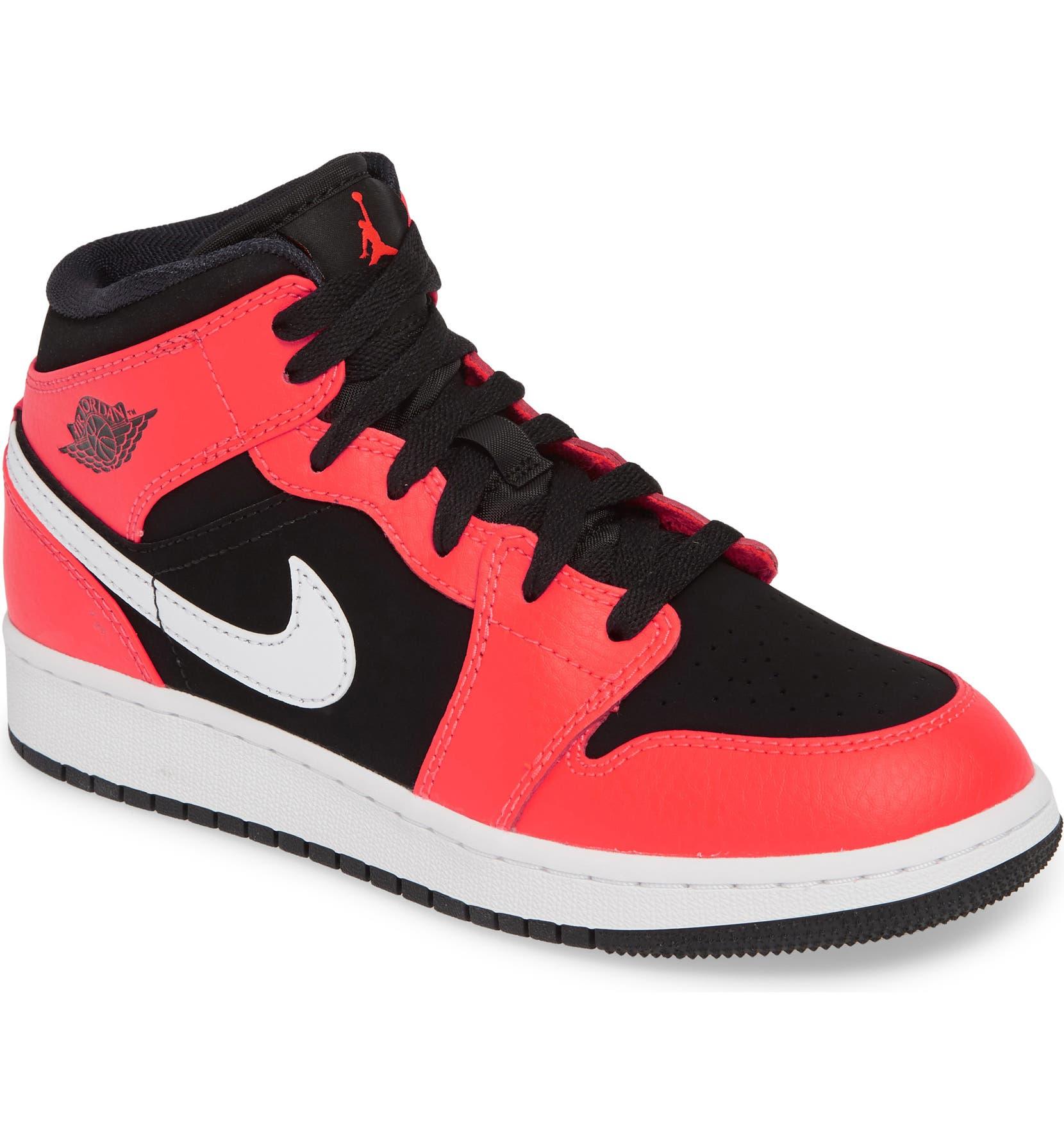 outlet store b3c25 c4496 Nike  Air Jordan 1 Mid  Sneaker (Big Kid)   Nordstrom