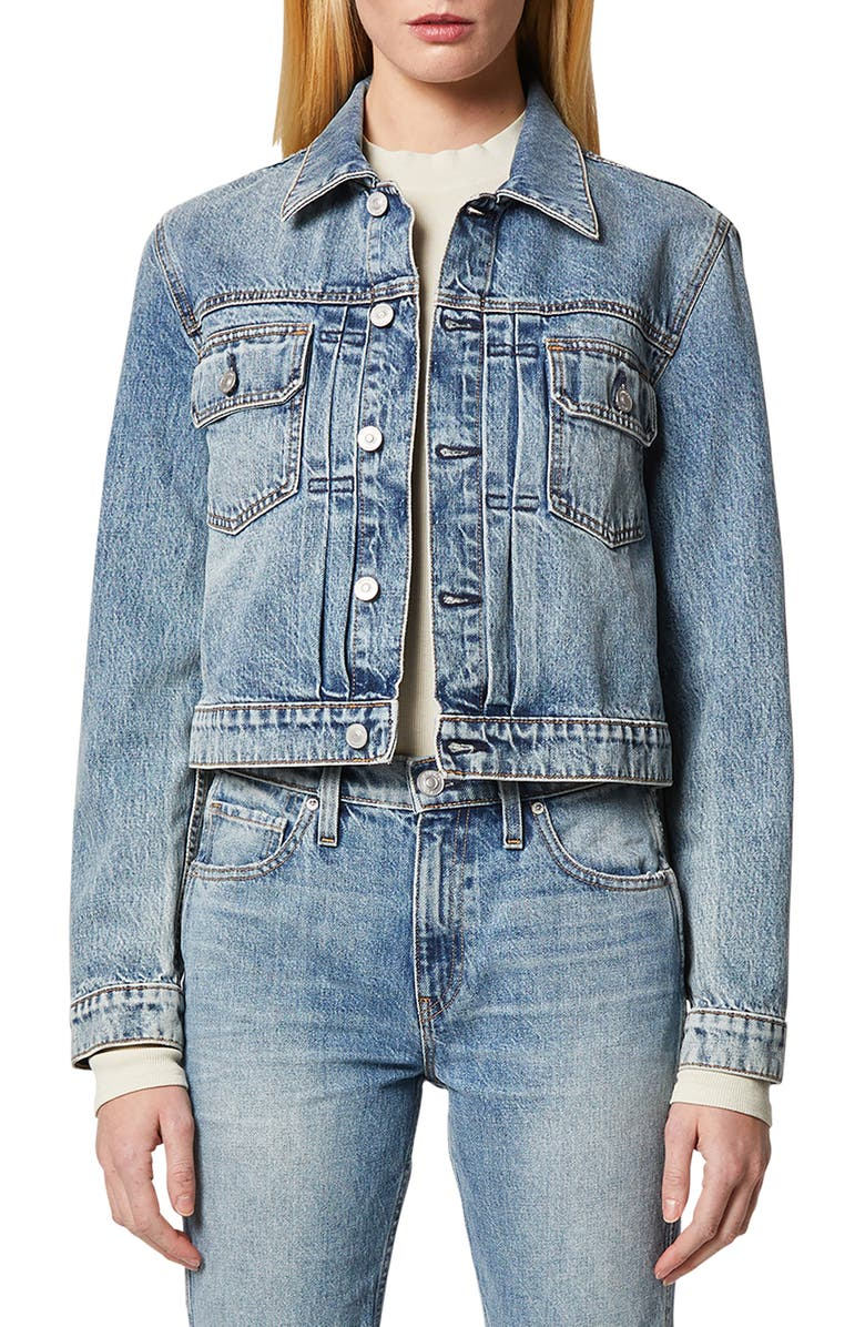 HUDSON JEANS Lola Shrunken Trucker Jacket, Main, color, 420