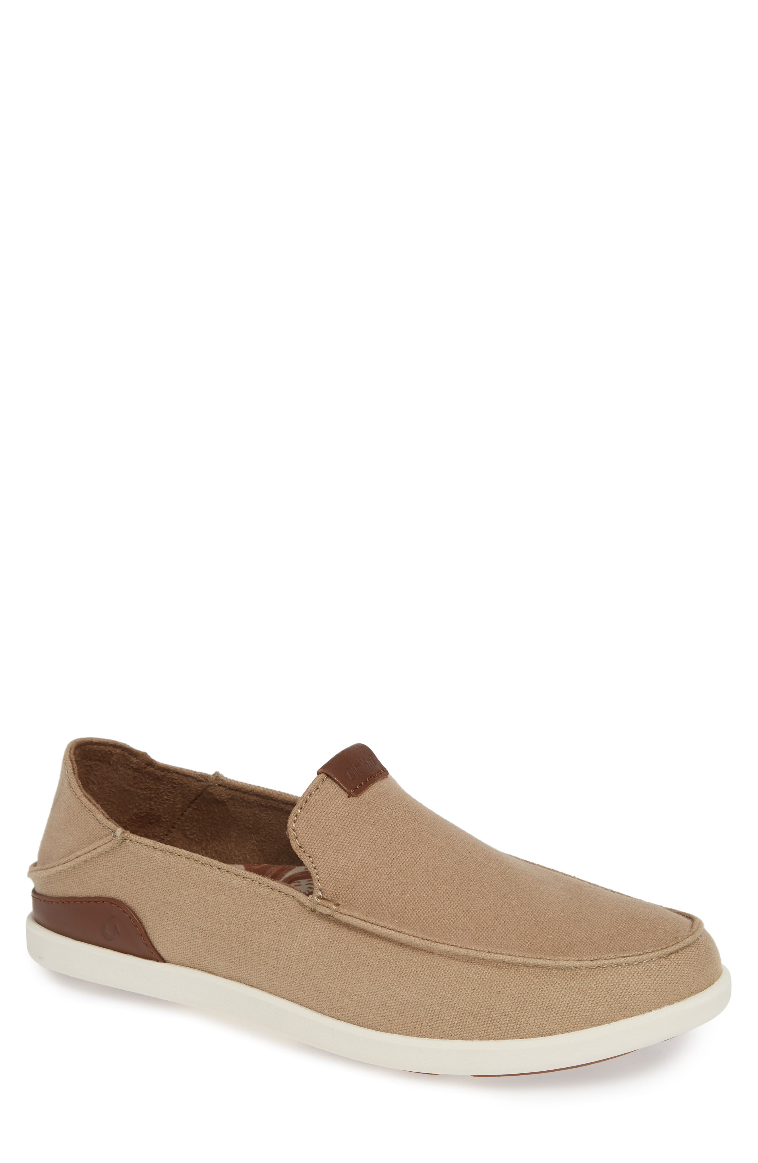 Sturdy canvas furthers the casual, easy-to-wear comfort of a classic slip-on crafted with a smart Drop-In Heel for easy conversion to a slide. Style Name: Olukai Manoa Slip-On (Men). Style Number: 5640174. Available in stores.