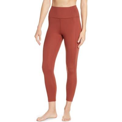 Girlfriend Collective High Waist 7/8 Leggings, Red