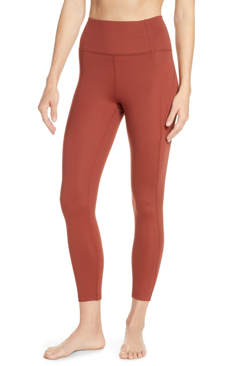 GIRLFRIEND COLLECTIVE High Waist 7/8 Leggings, Main, color, SEDONA