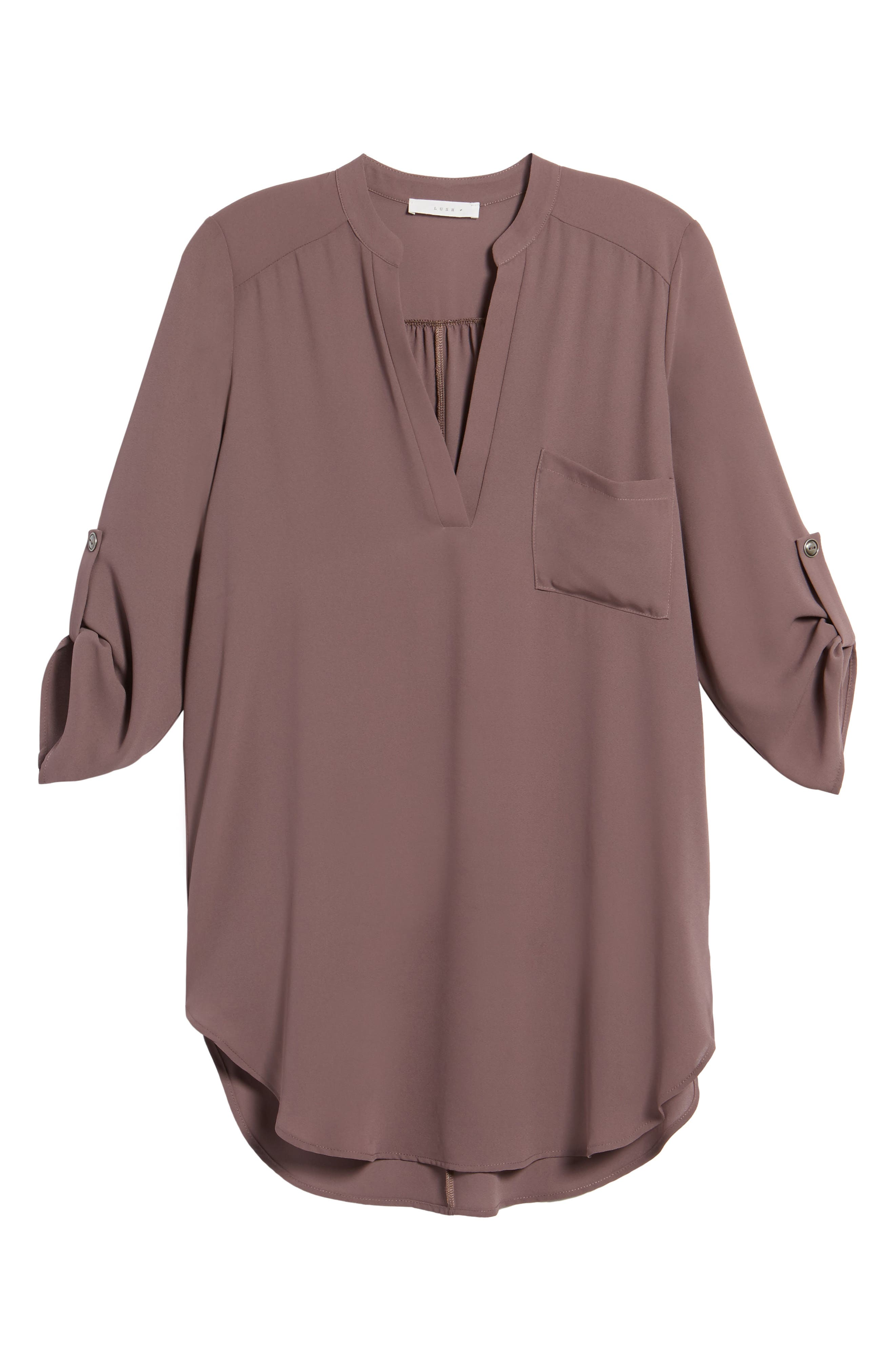 ,                             Perfect Roll Tab Sleeve Tunic,                             Alternate thumbnail 45, color,                             200