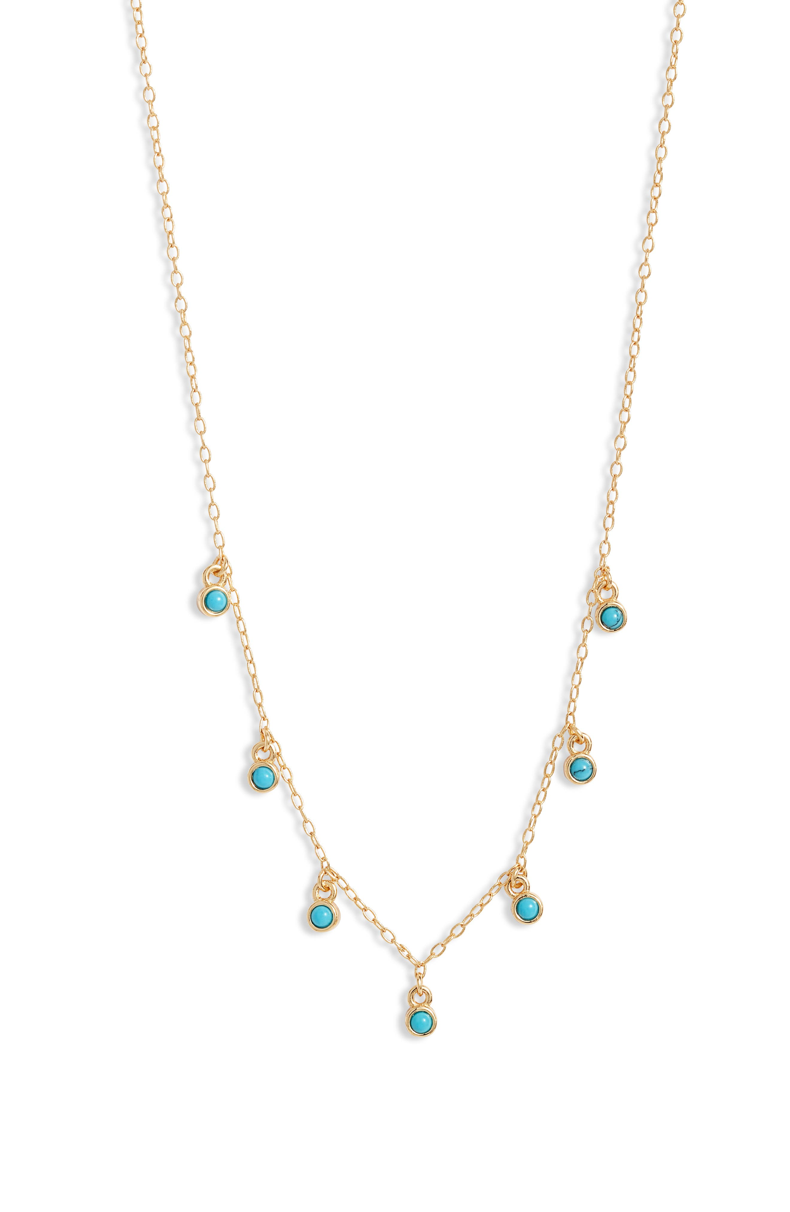 Stone Station Frontal Necklace