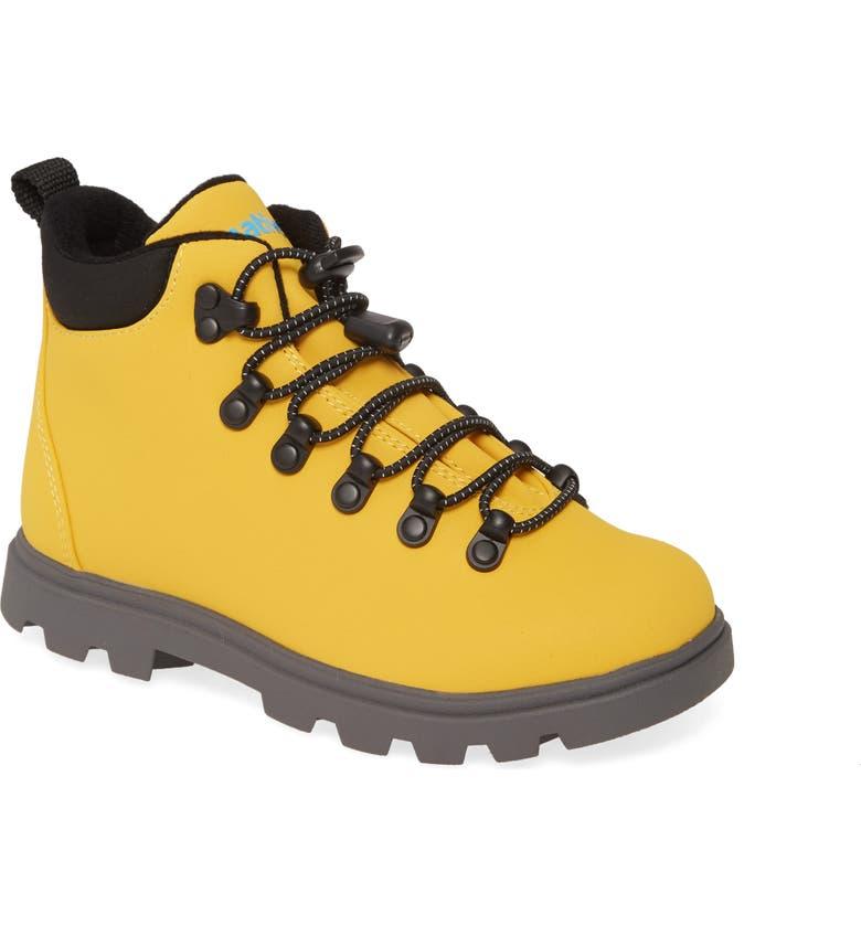 NATIVE SHOES Native Fitzsimmons Treklite Hiking Boot, Main, color, ALPINE YELLOW/ DUBLIN GREY