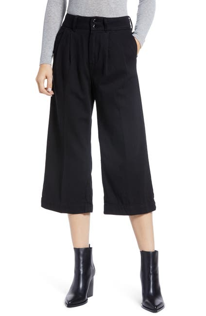Image of PAIGE Clarice Pleated Culotte Pants