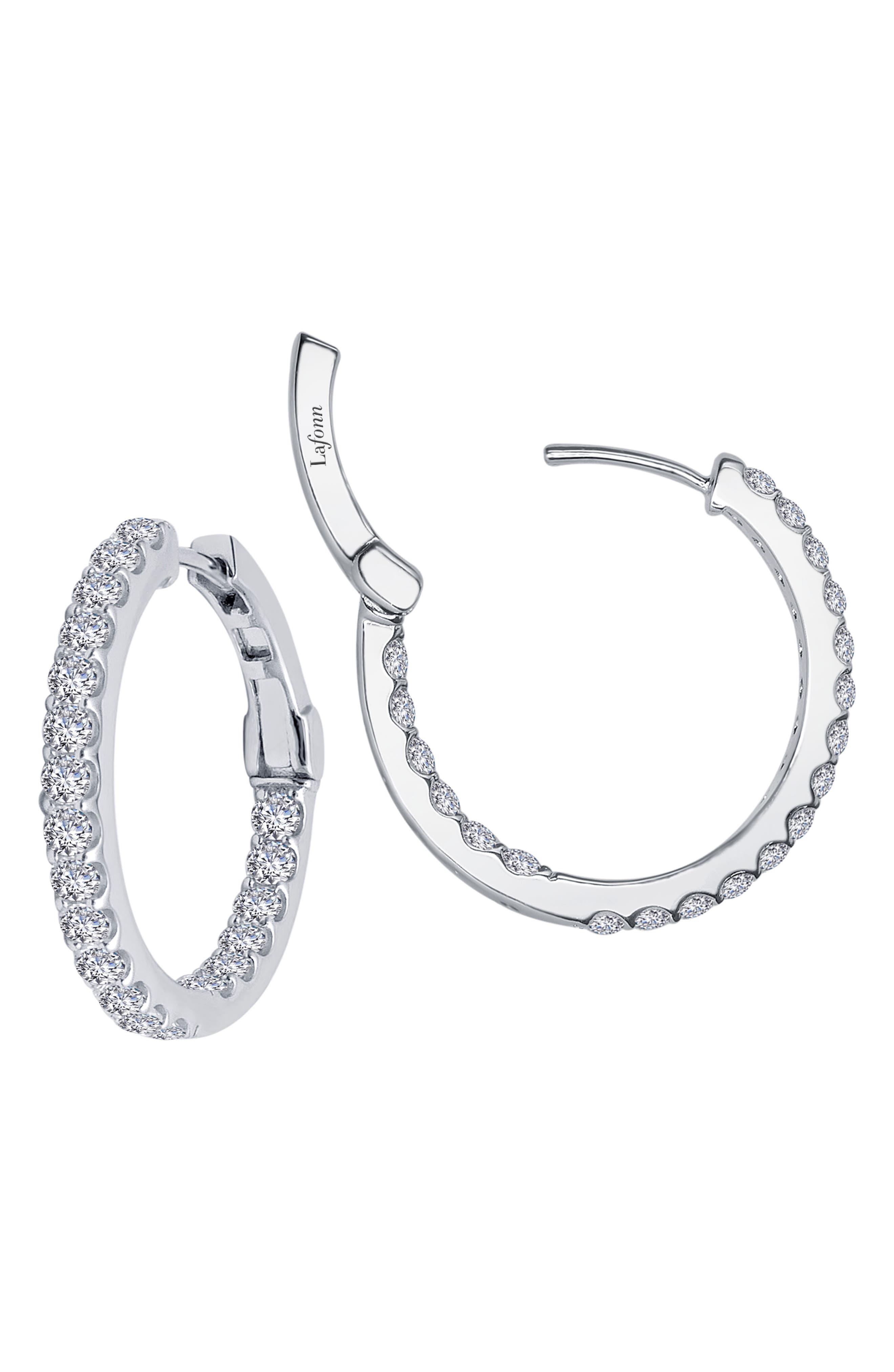 Inside Out Simulated Diamond Hoop Earrings