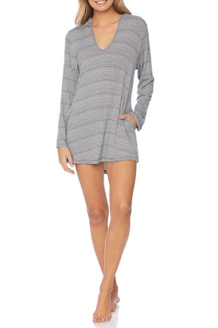 Image of Splendid Stripe Knit Hoodie Tunic