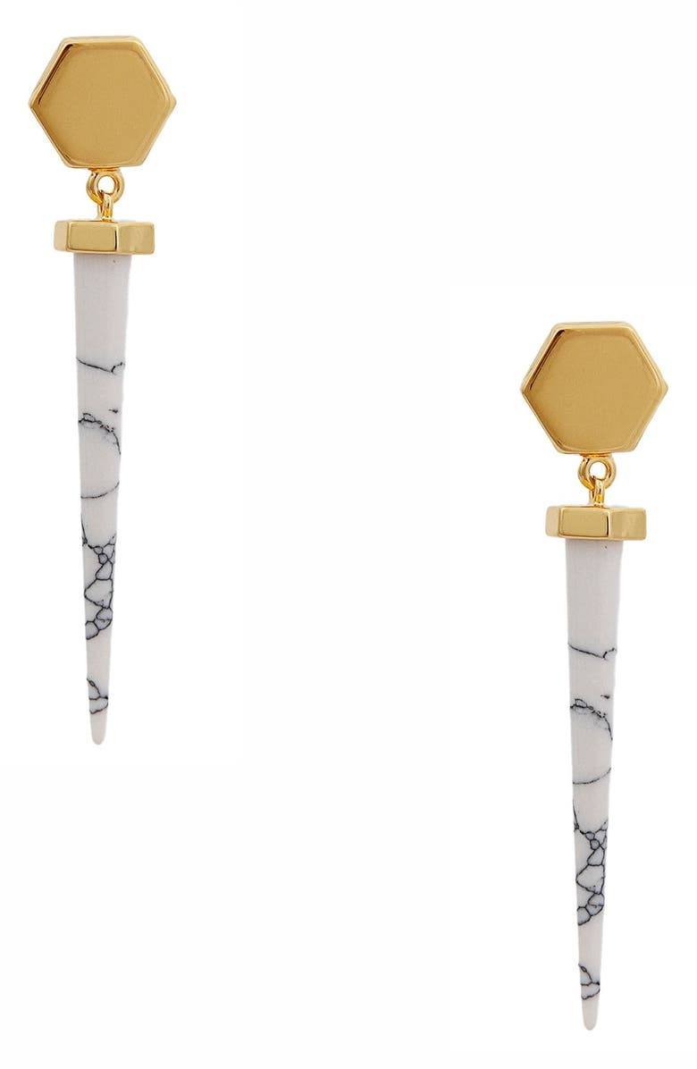 RACHEL ZOE 'Cleo' Spike Drop Earrings, Main, color, 710