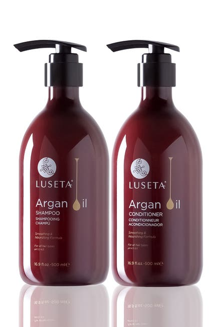 Image of Luseta Beauty Argan Oil Moisture Shampoo & Conditioner 16.9 oz. 2-Piece Set for Everyday Care