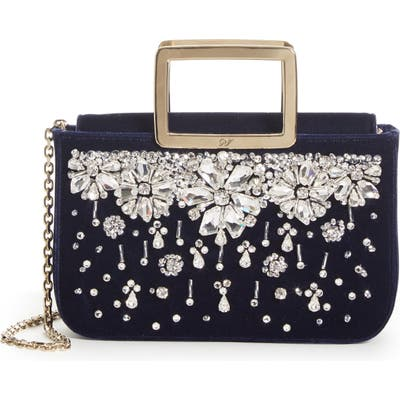 Roger Vivier Joie De Vivier Crystal Velvet Top Handle Bag - Blue