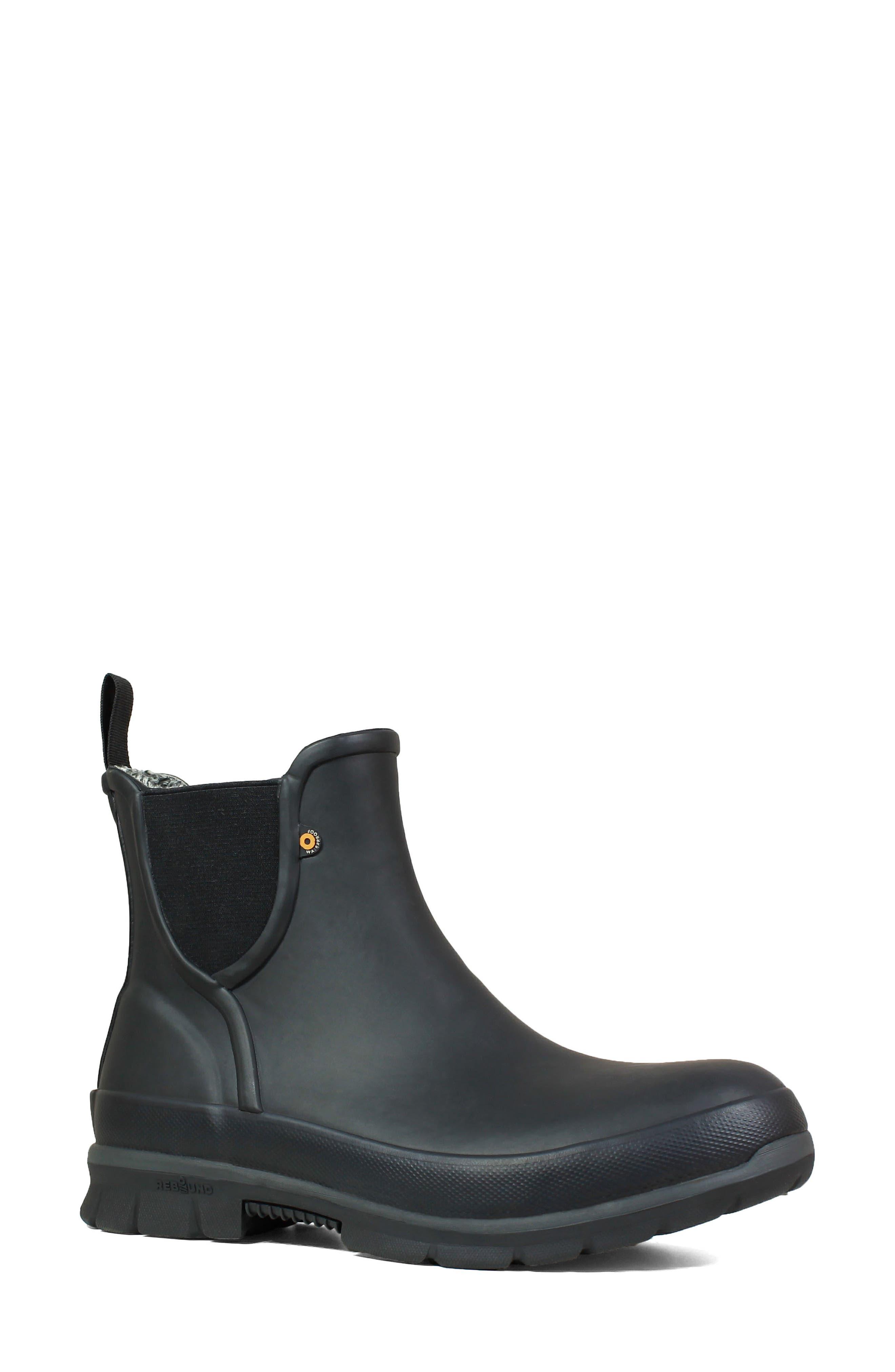 Bogs Amanda Plush Waterproof Slip-On Boot, Black