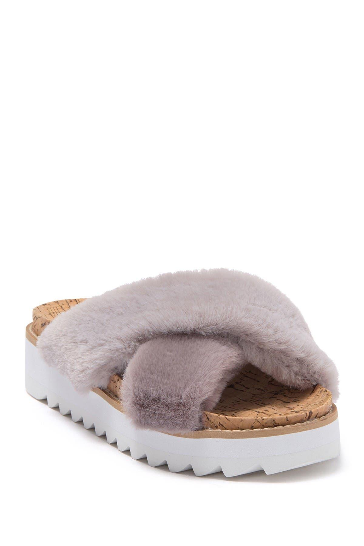 Image of STEVEN NEW YORK Cado Faux Fur Sandal