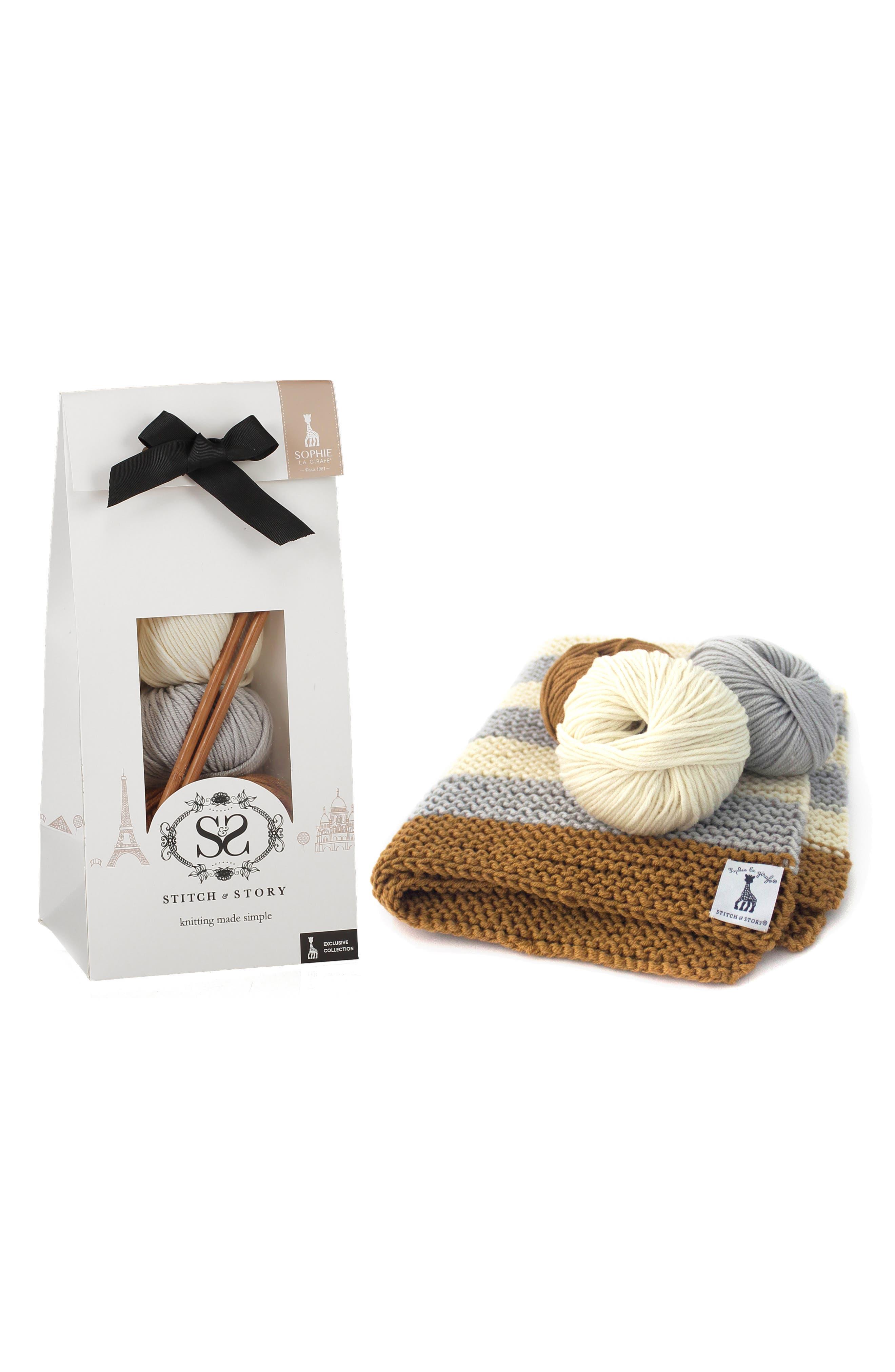 Blanket Knitting Kit, Main, color, 400