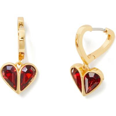 Kate Spade New York Rock Solid Heart Huggie Hoop Earrings