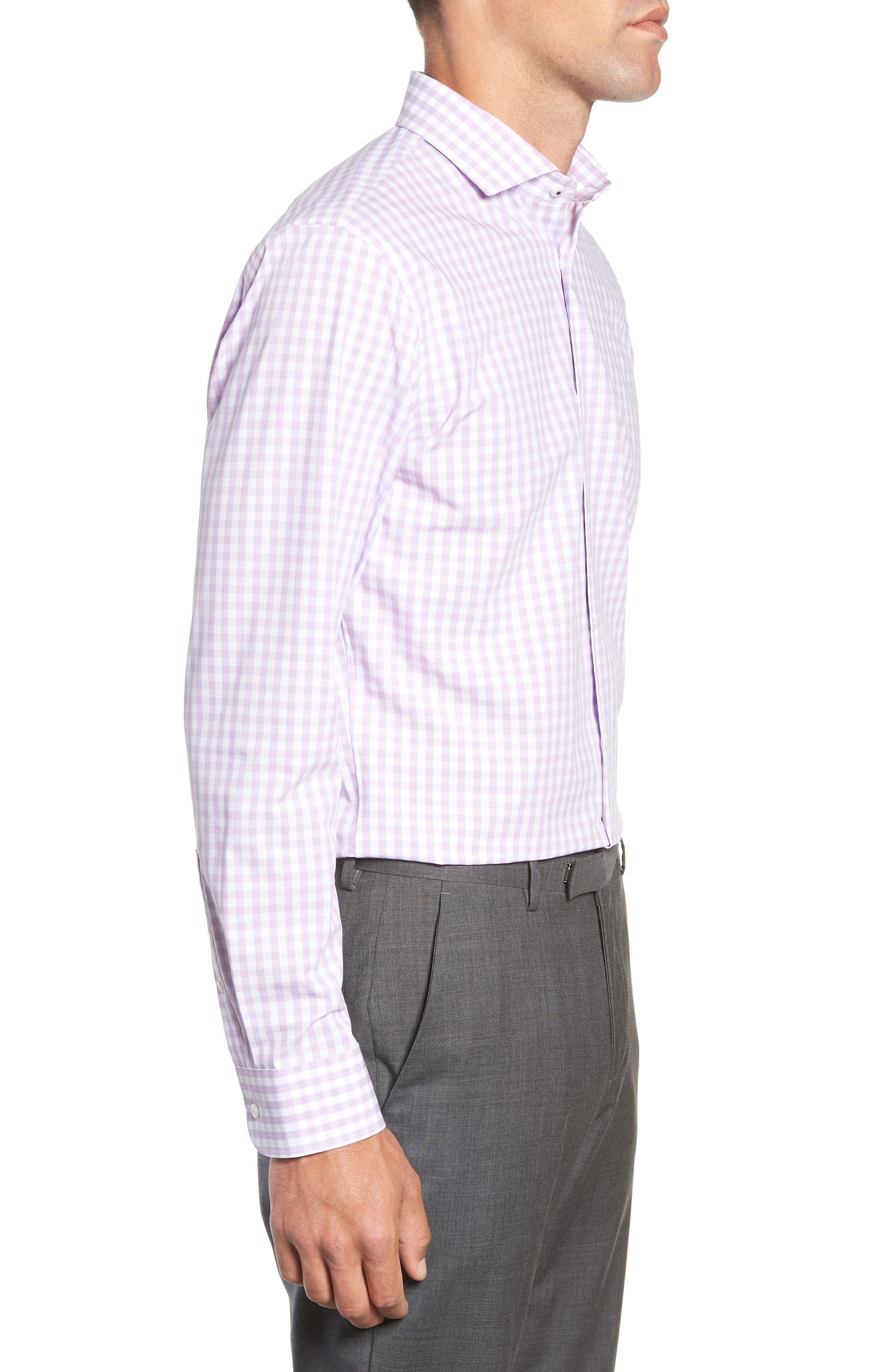 ,                             Tech-Smart Trim Fit Stretch Check Dress Shirt,                             Alternate thumbnail 48, color,                             530