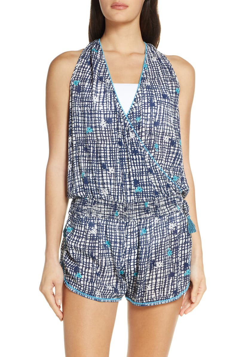 POUPETTE ST BARTH Poupette St. Barth Elise Cover-Up Romper, Main, color, 400
