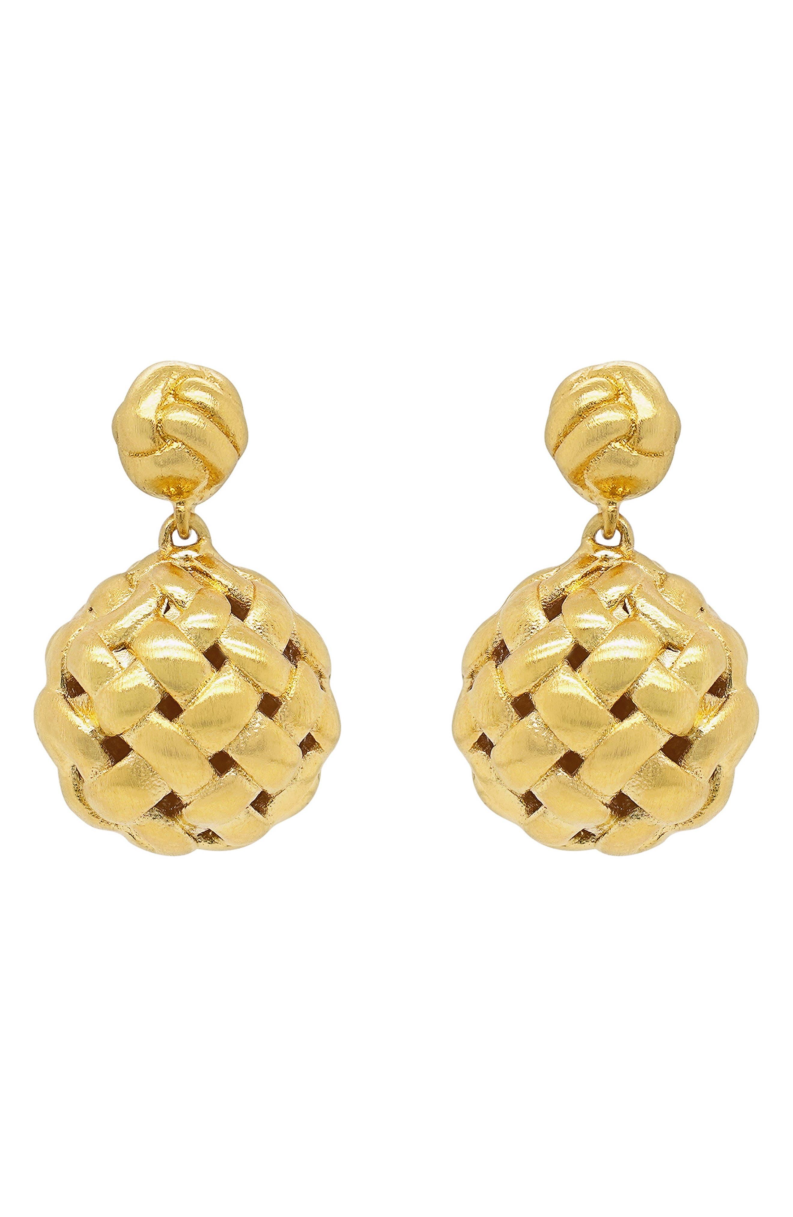 Weave Droplet Earrings