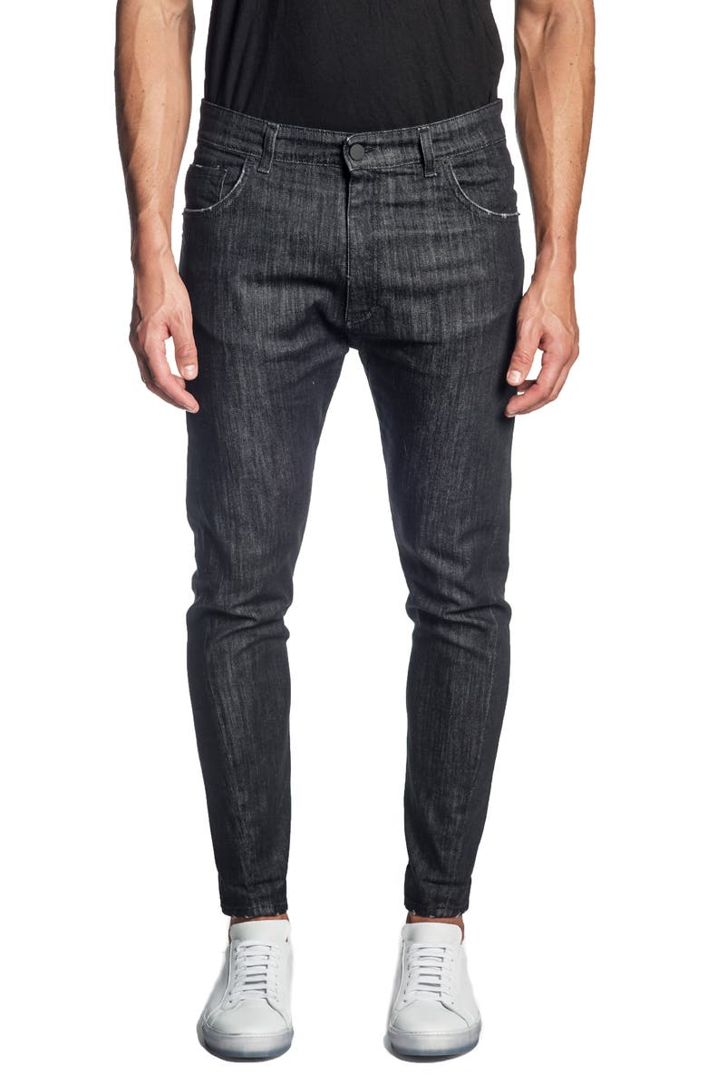 JARED LANG Skinny Jeans, Main, color, BLACK