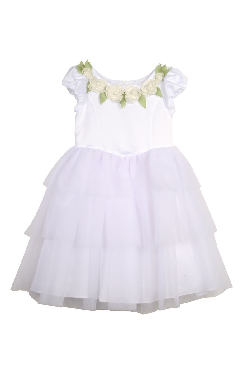 PIPPA & JULIE x Disney<sup>™</sup> Cinderella Flower Girl Dress, Main, color, WHITE