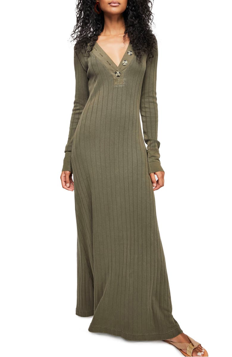 bb64e781b6a4 Endless Summer by Free People Sunflower Maxi Dress, Main, color, ARMY