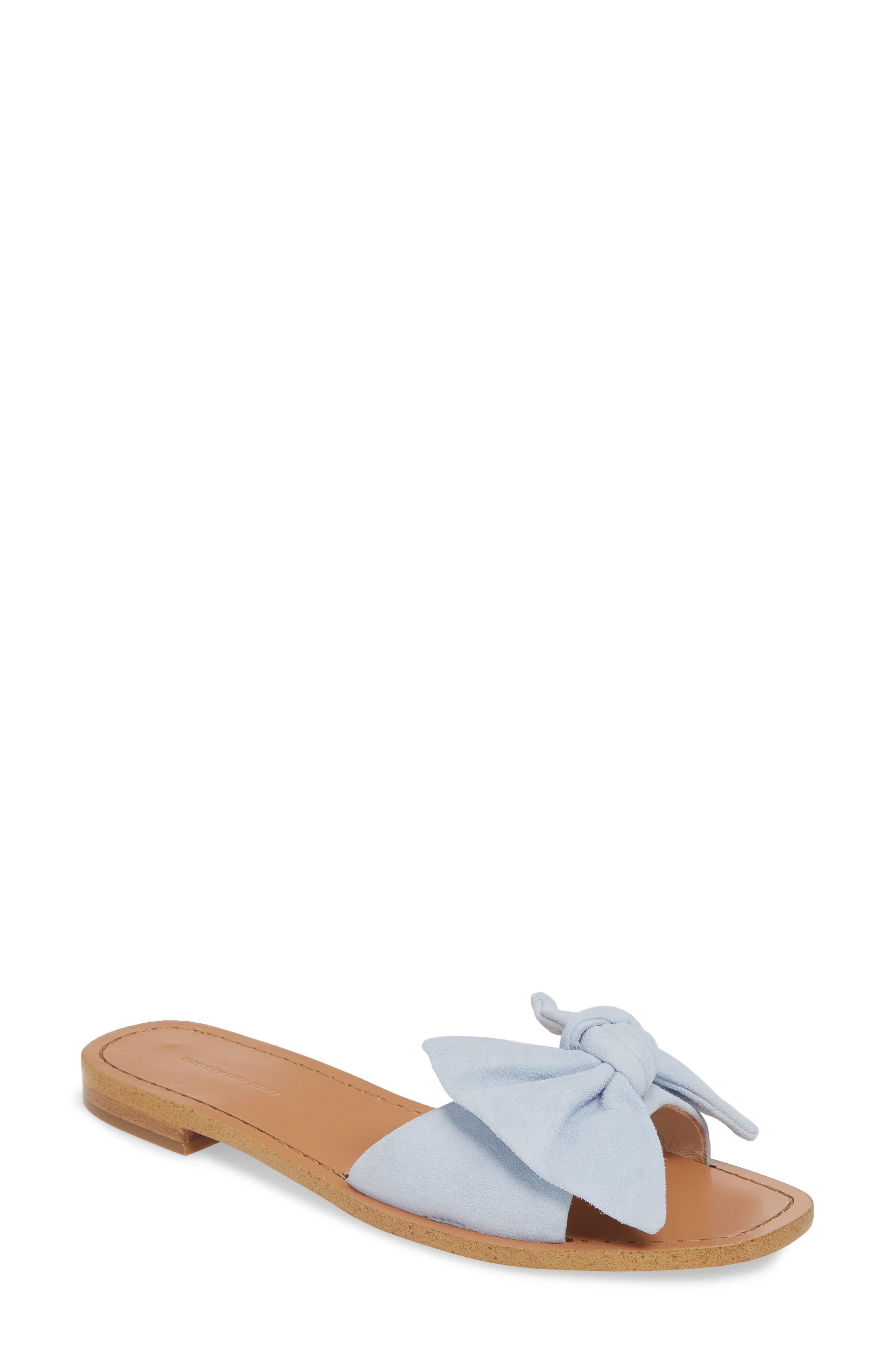 Image of Something Navy Cici Bow Flat Slide Sandal