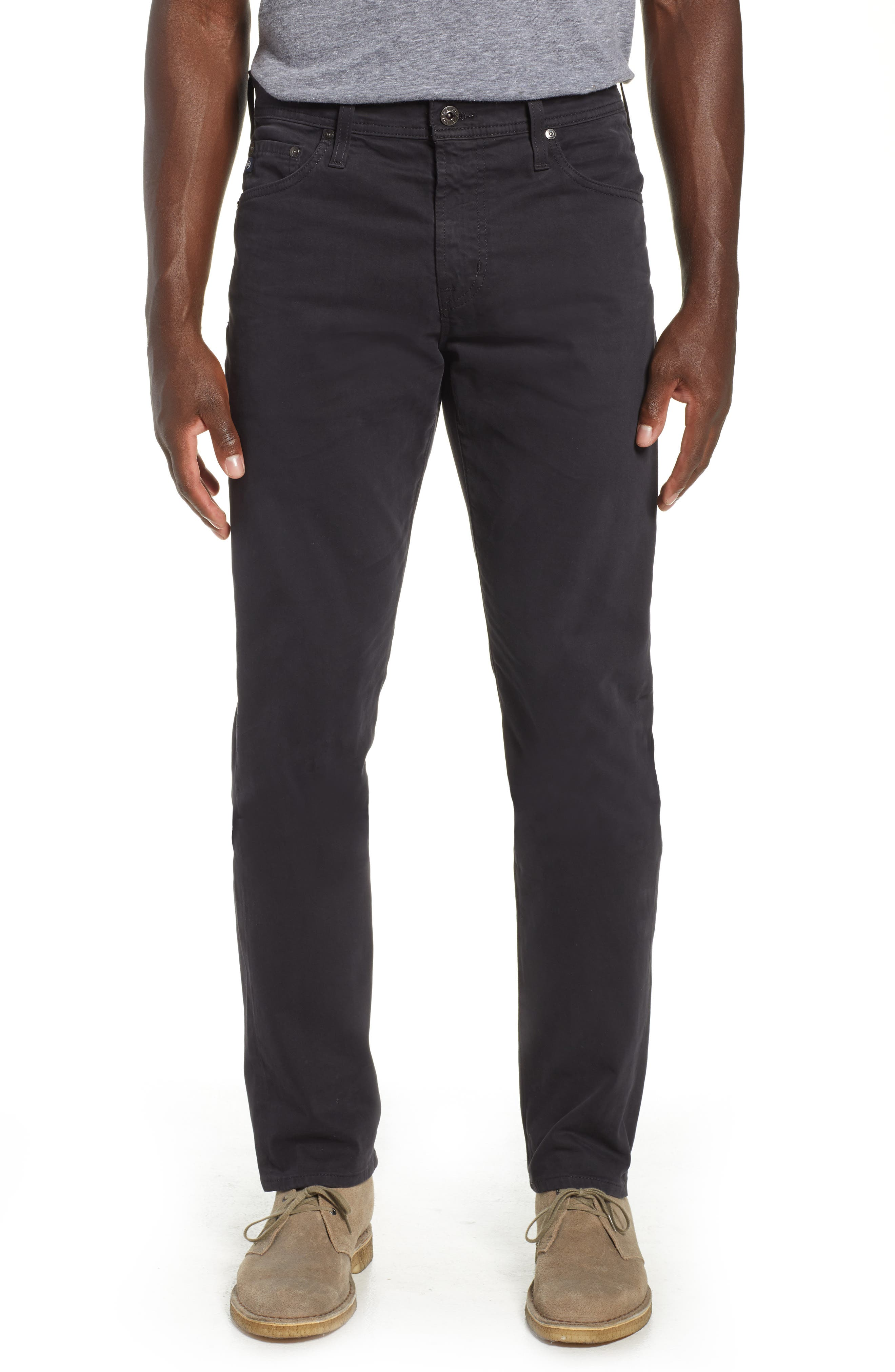 Everett SUD Slim Straight Fit Pants, Main, color, GRAY STONE