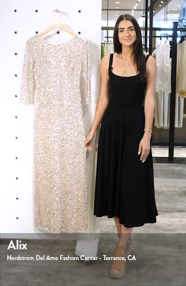 Sequin Mesh Gown, sales video thumbnail